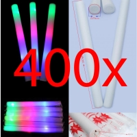 400x Bastone Luminoso Led Spugna RGB Foam Stick Light Pingone